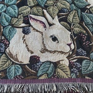 Holiday - Easter/Spring decor woven throw blanket